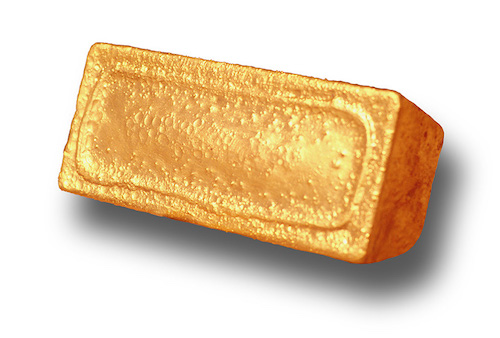 Photo of a gold bar